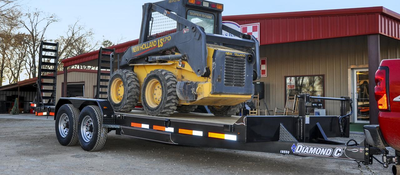diamond c trailer tandem axle equipment utility trailers