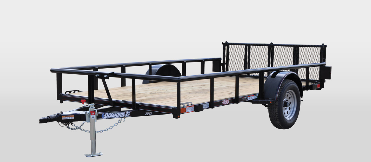 diamond c 2PSA ALL AROUND SINGLE AXLE UTILITY TRAILER