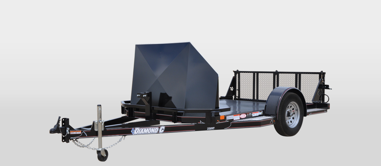 diamond c 33UVT - Utility Vehicle/ Motorcycle Crossover Trailer