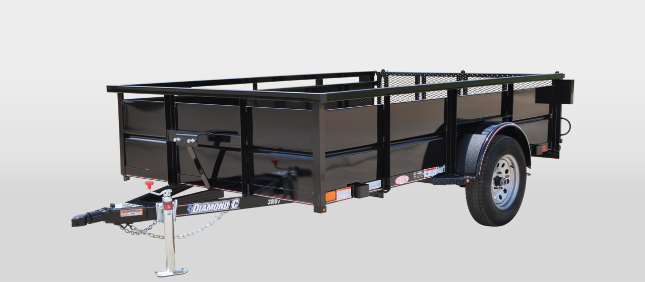 diamond c 3RBT  ROUSTABOUT SINGLE AXLE UTILITY TRAILER