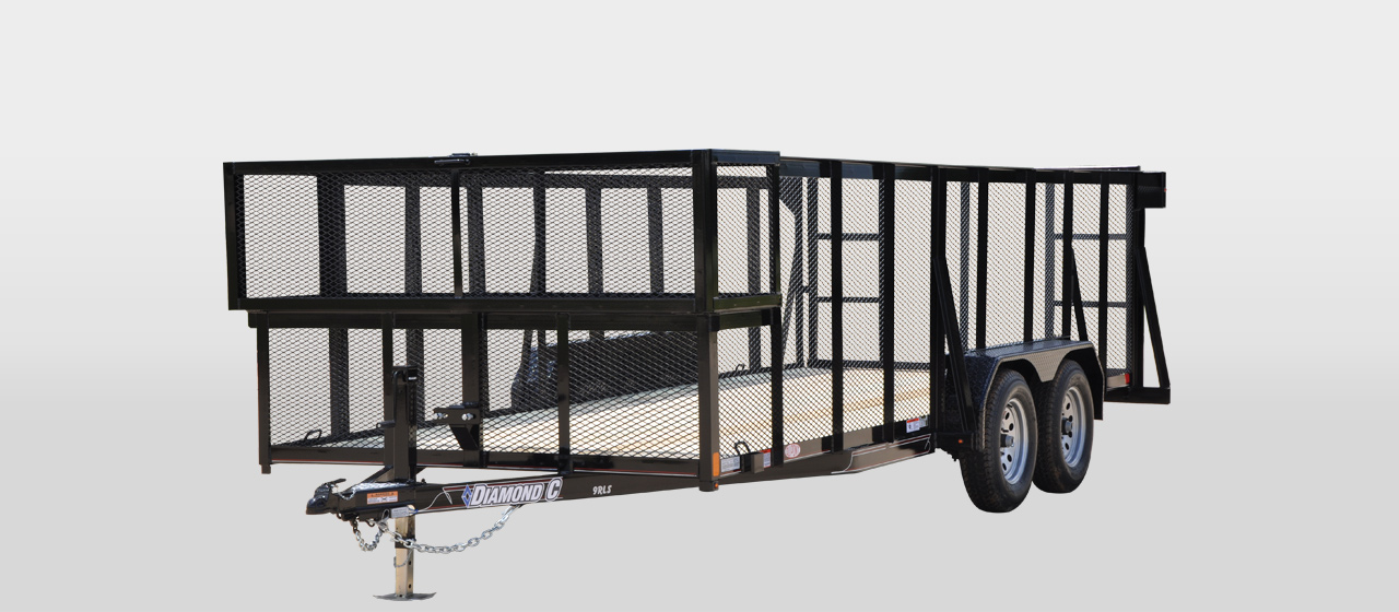 diamond c 9RLS Tandem axle landscape trailer