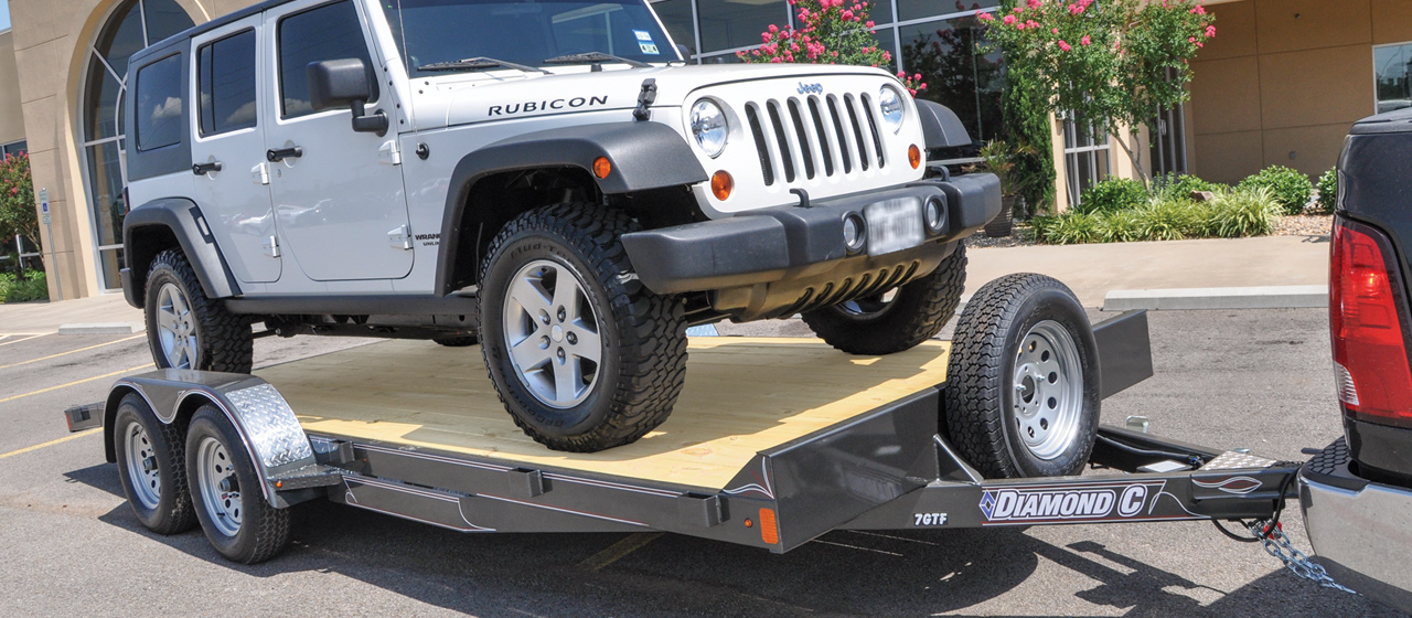 diamond c trailer tandem axle auto trailers