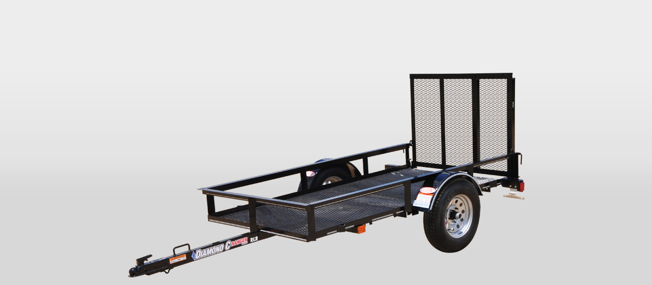 diamond c RLR  RANGER SINGLE AXLE UTILITY TRAILER