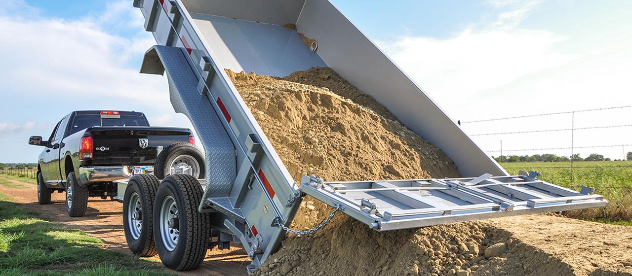 diamond c trailer tandem axle utility dump trailers