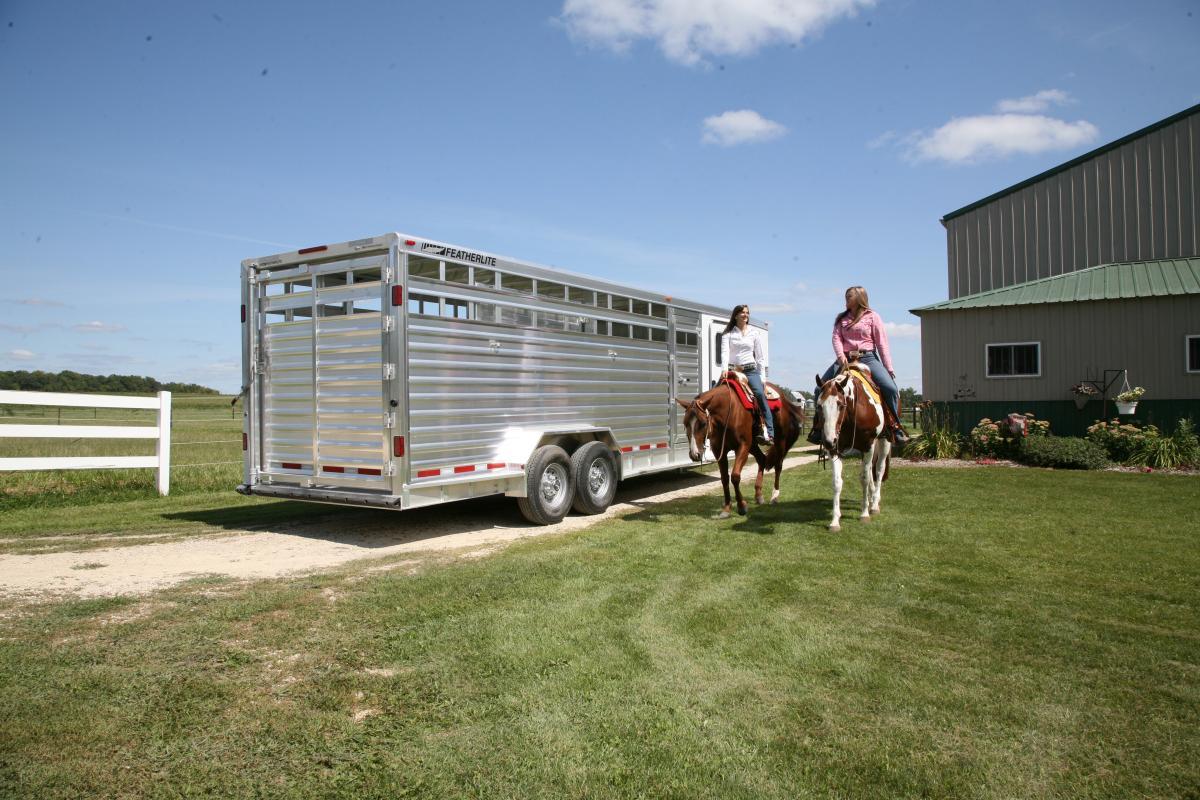 featherlite trailer stock combo aluminum