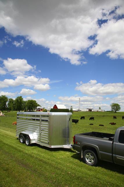 featherlite trailer stock bumper pull aluminum