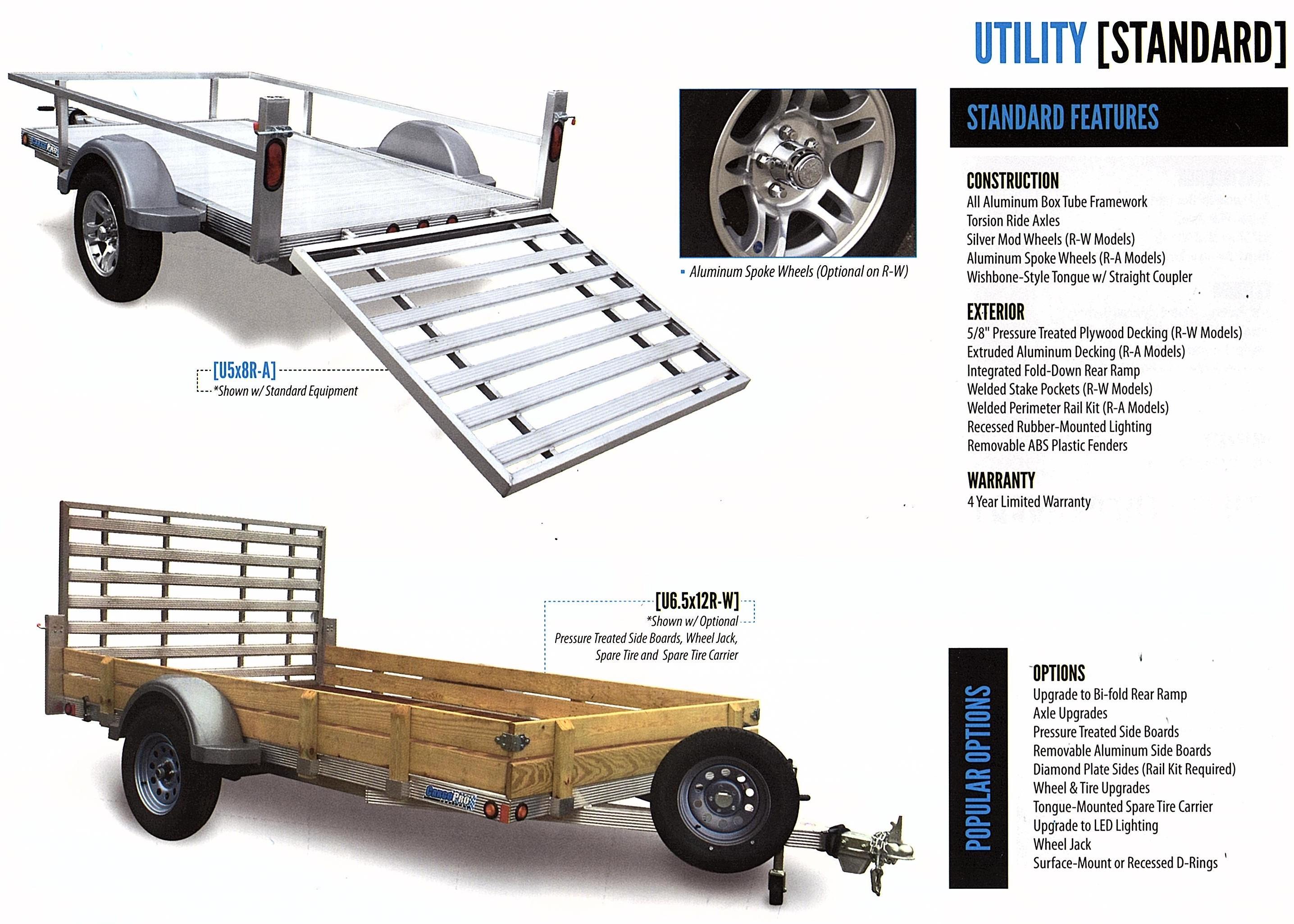 single axle aluminum trailer