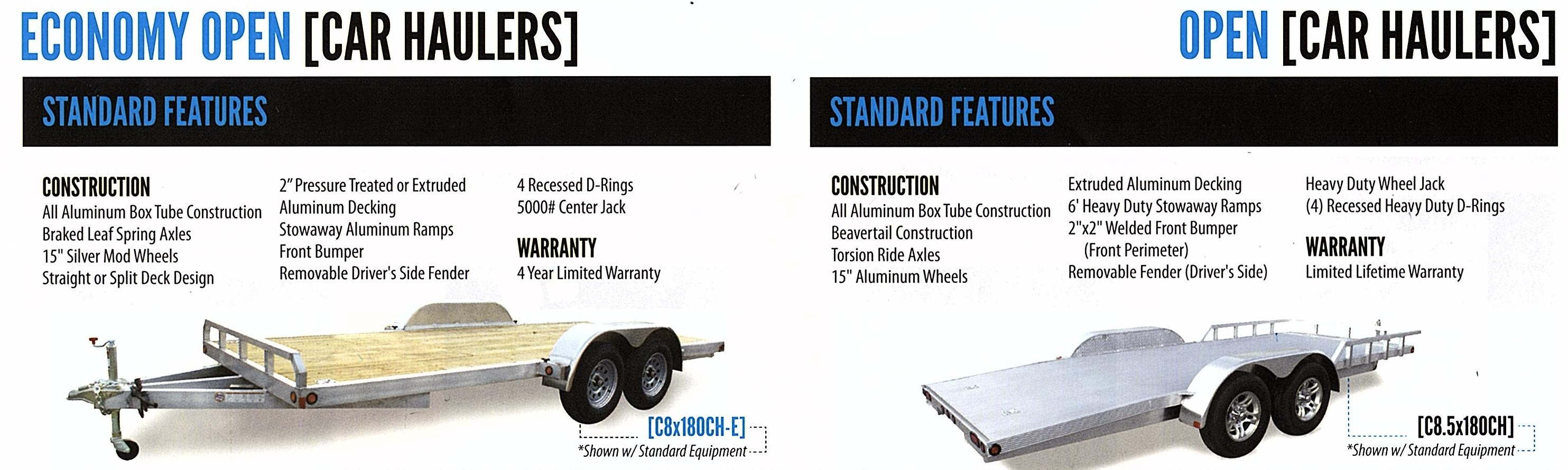 open car trailer aluminum economic cheap