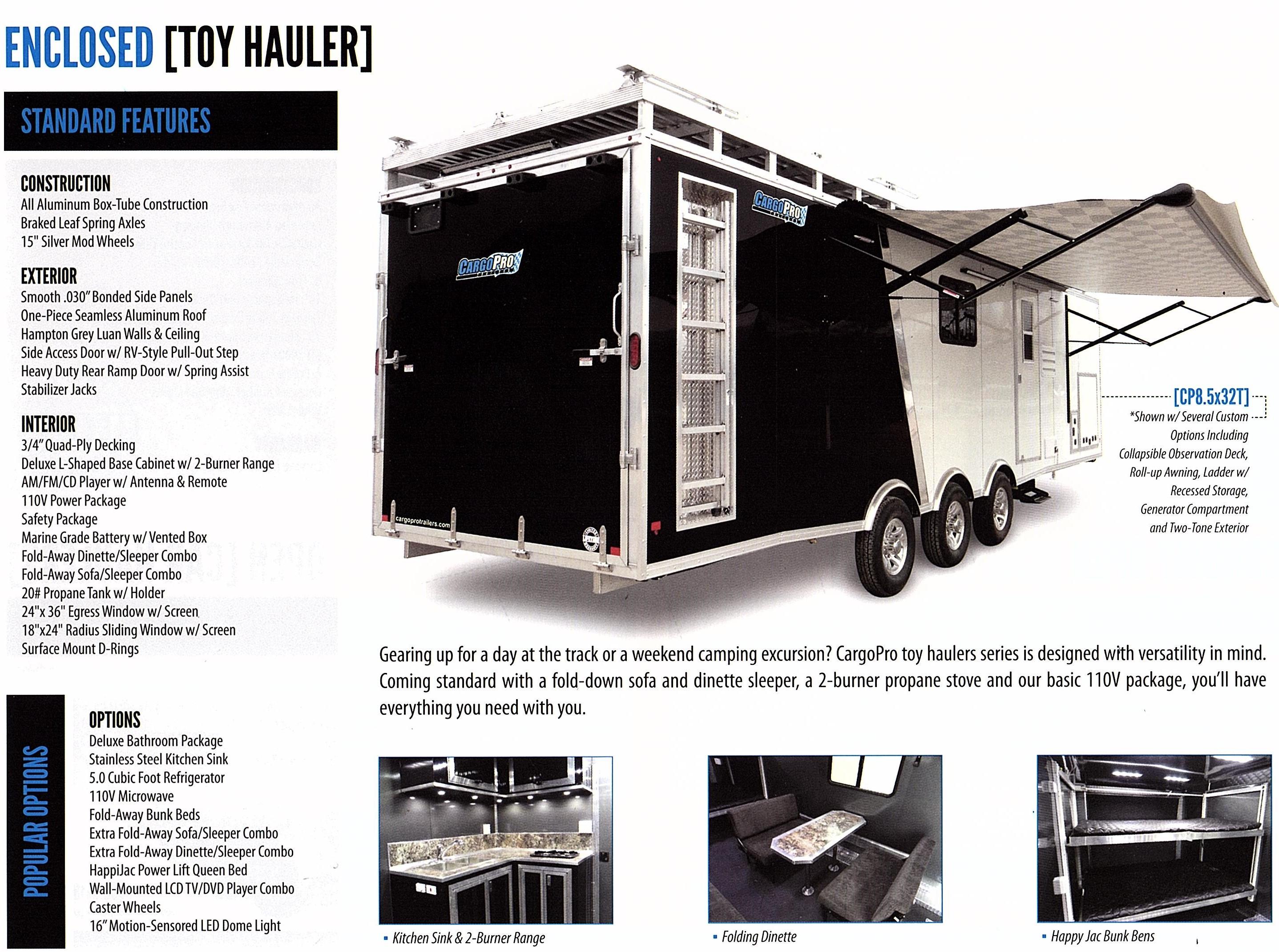 toy hauler aluminum trailer ughhh