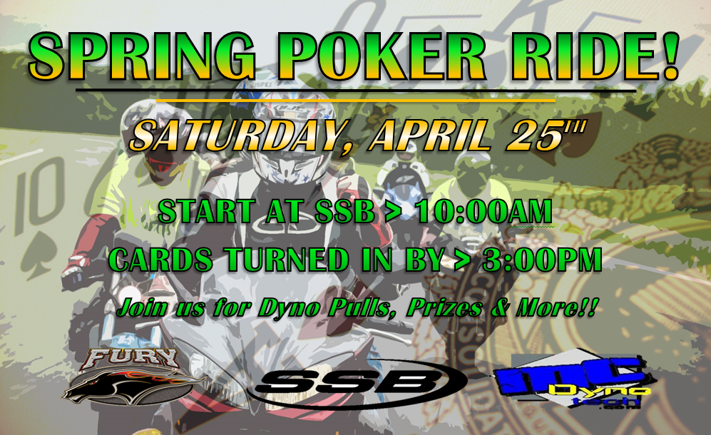 Join us for our Spring Poker Ride!