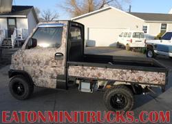 Kings camo mini truck with Rhino lining tires wheels lift kit