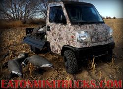 kings camo goose hunting truck