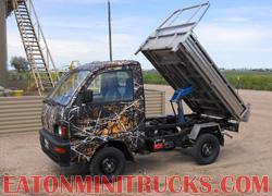 camo mini dump truck stainless steel dump bed