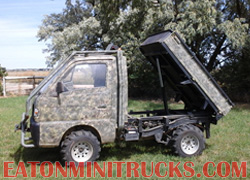 custome ext cab 4x4 mini truck with dump bed and roll cage