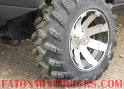 Vision Wheels off road atv tires on a 4x4 mini truck