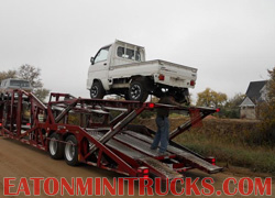 Shipping a customers lifted 4x4 mini truck