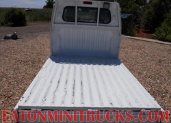 flatbed mini truck with all sides folded down