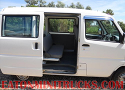 interior space and room on a Mitsubishi 4wd van