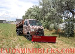 4x4 Mini truck dump truck with Boss snow plow