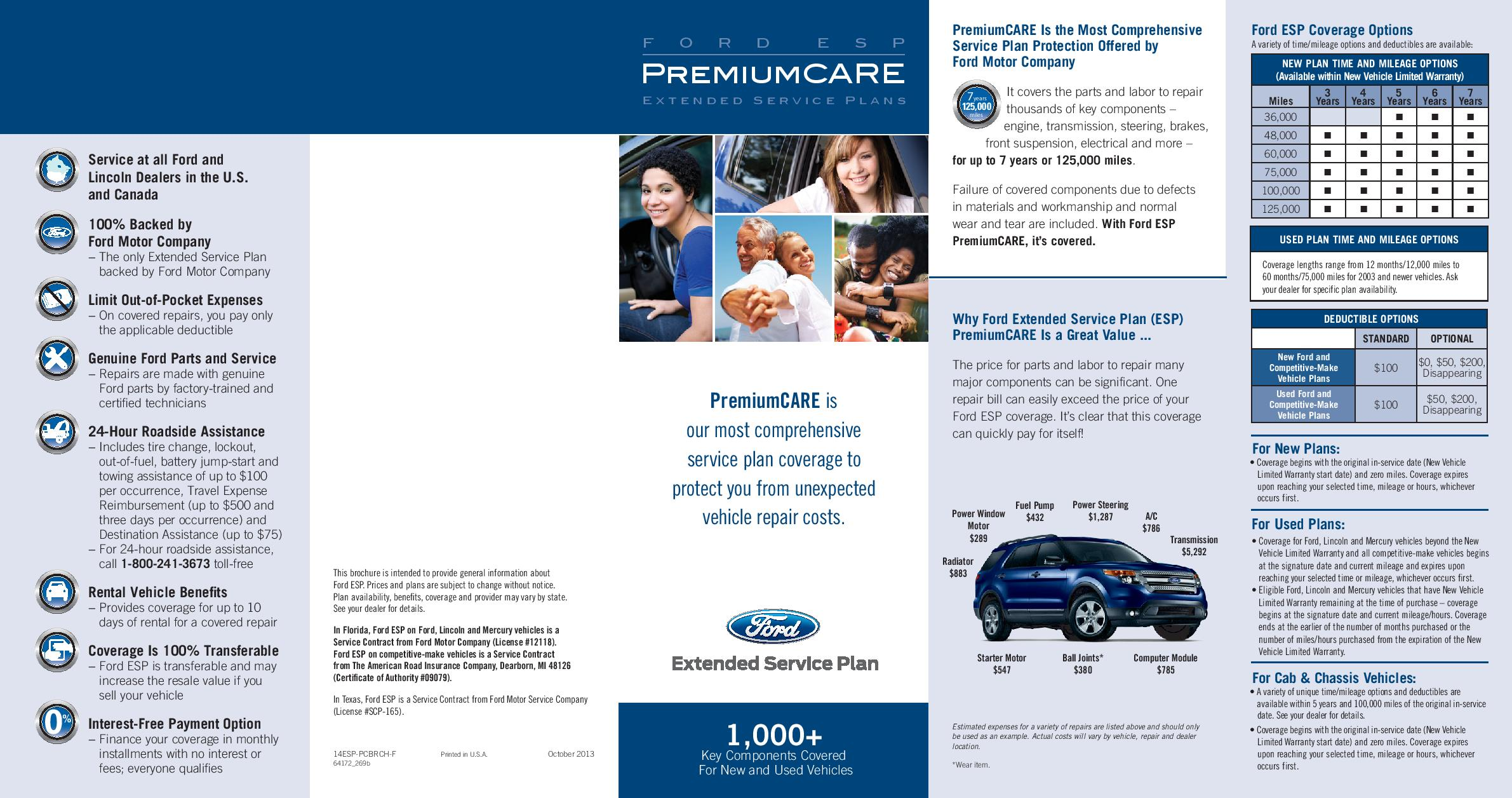 Ford Extended Warranty Premium Care >> Ford premium maintenance plan refund