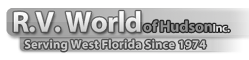 R.V. World of Hudson Inc. Logo