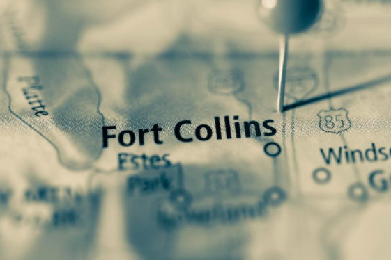 Map of Fort Collins - Colorado Motor Car Co.