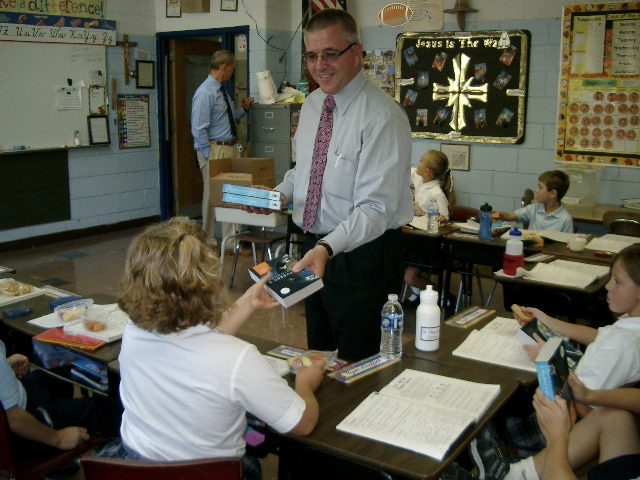 jim shepherd in school classroom