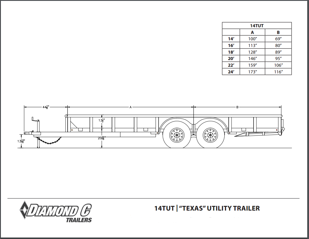 16 Car Trailer Frame Diagram Find Wiring Utility Harness Diamond C Tandem Axle Trailers Rh Stxsc Com 6 Pin Drop Deck
