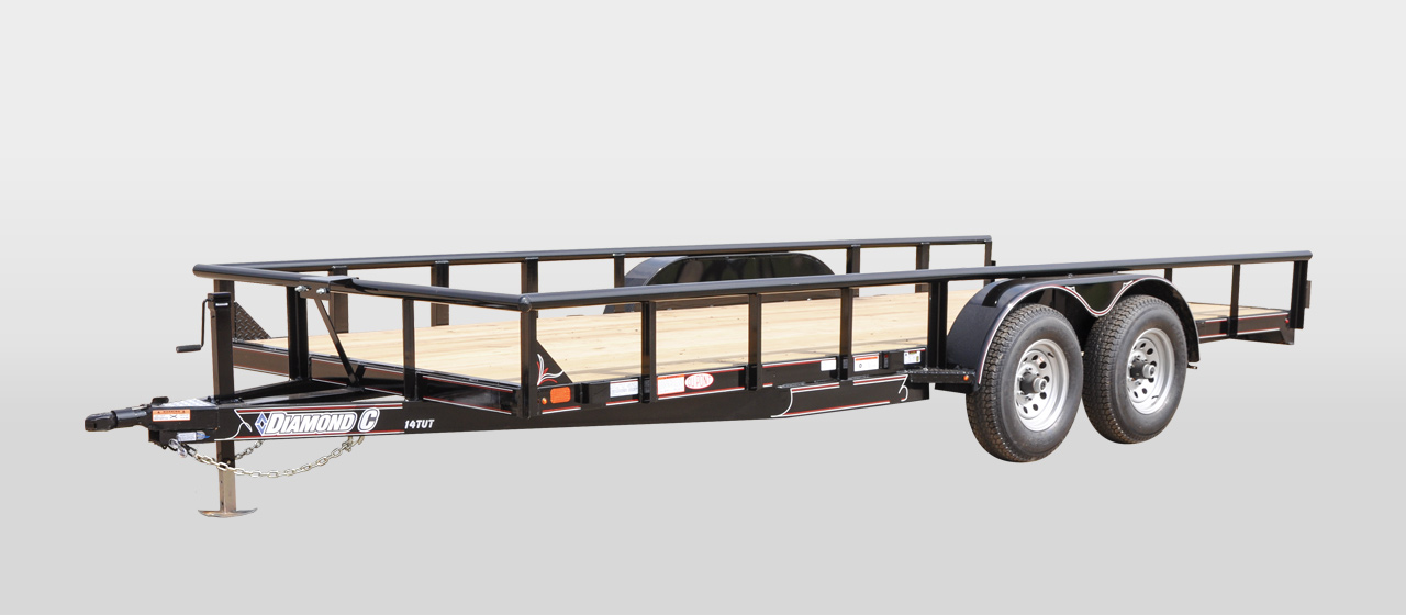 diamond C 14tut texas edition utility trailer