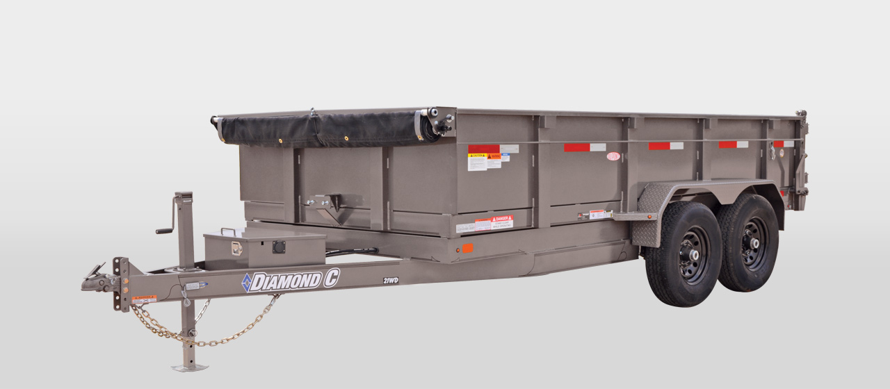 diamond c 21WD - Commercial Grade Heavy Duty Dump Trailer
