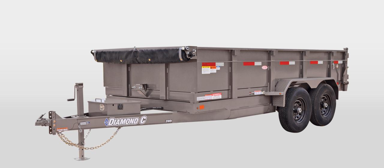 diamond c 21WD - Commercial Grade Heavy Duty Dump Trailer