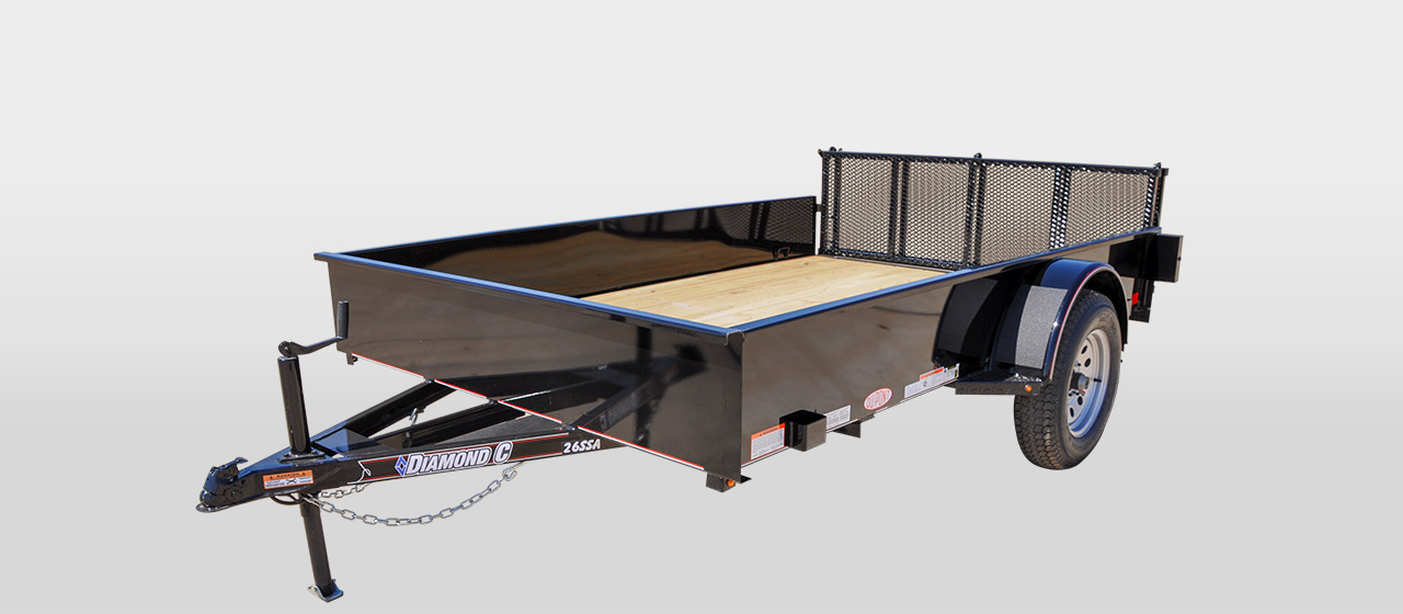 DIAMOND C 26SSA - SOLID-SIDE Single Axle Utility Trailer