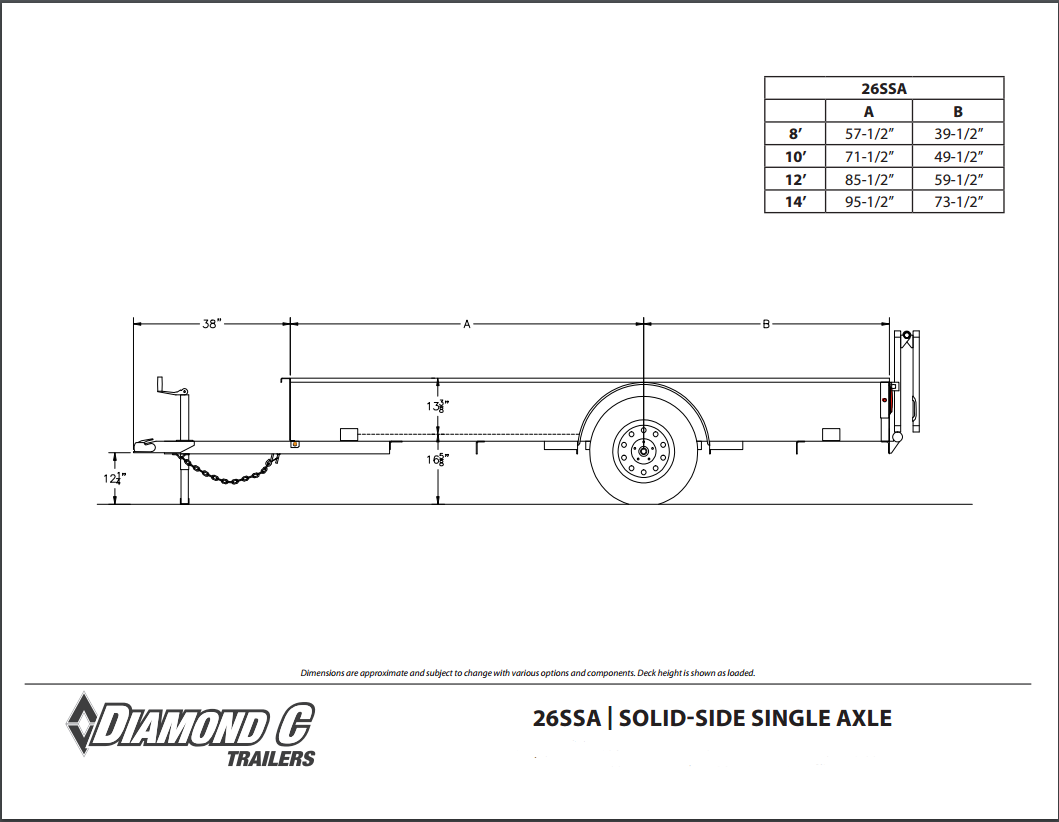 Diamond C Single Axle Utility Trailers Boat Trailer Wiring Harness Diagram 3 Year Warranty Quality You Can Depend On
