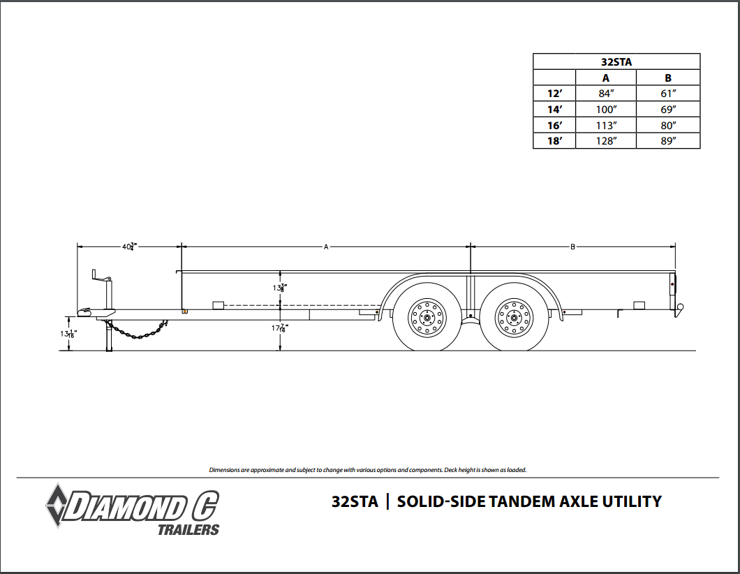 Diamond C Tandem Axle Utility Trailer In Stock Ready To Go Flatbed Light Diagram Available Sizes 12 X 83 14 16 18