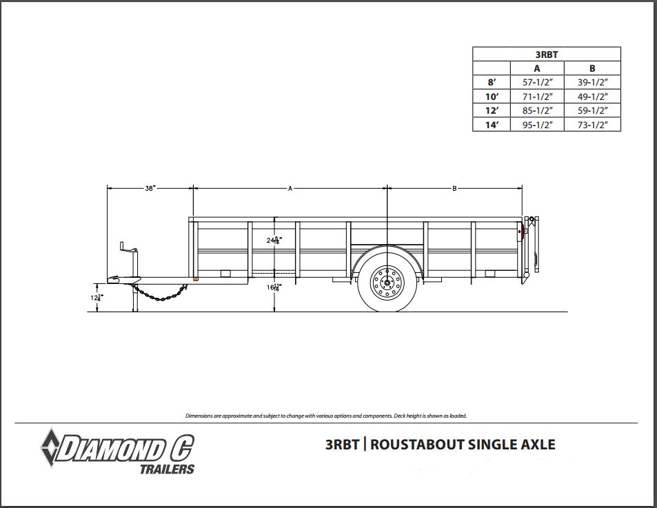 Swell Diamond C Single Axle Utility Trailers Wiring Digital Resources Anistprontobusorg