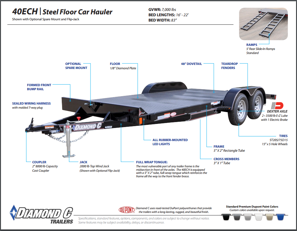 Diamond C Automobile Trailers Trailers