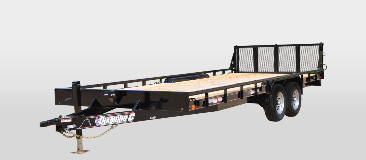 DIAMOND C 47MD - Mid-Deck Tandem Utility Trailer
