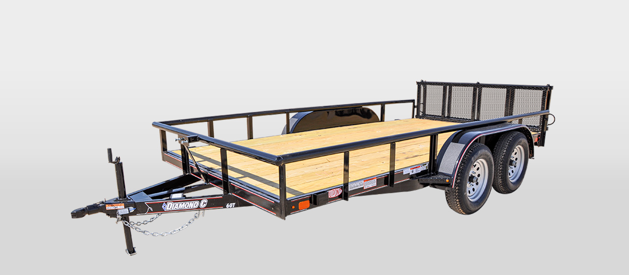 diamond c 6gt all around tandem axle utility trailer