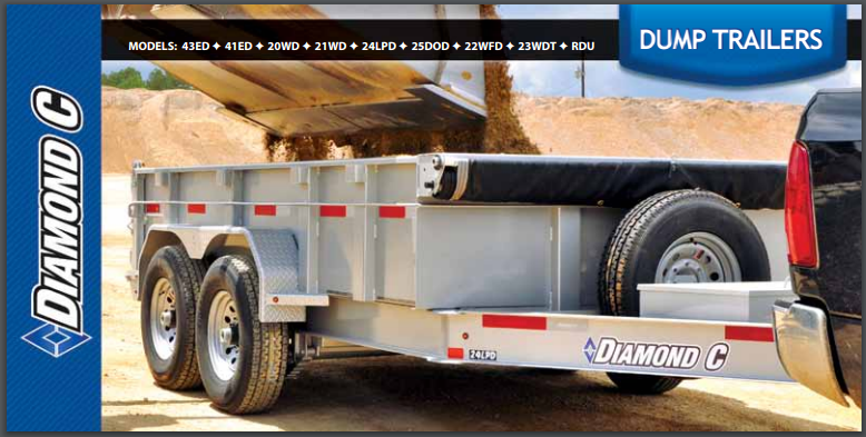 Diamond C Dump Trailer Brochure Trailers Steel Heavy Medium Duty