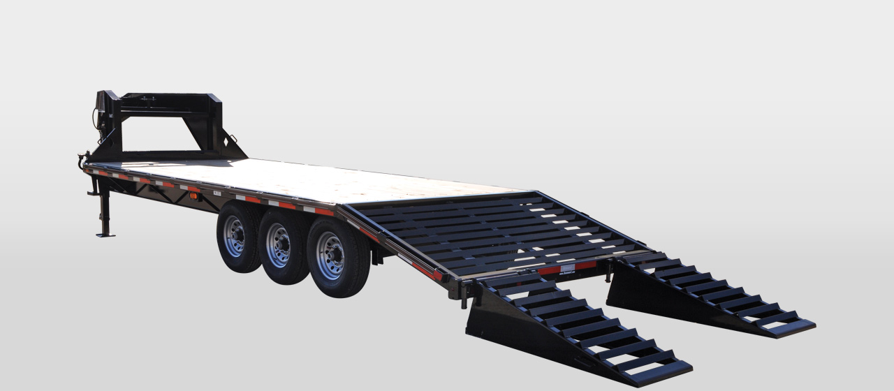 diamond c FMAX307 - Single Wheel Triple Axle Gooseneck Trailer