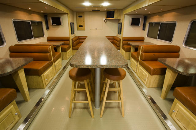 Featherlite Trailers Custom Interior Cafe Diner Food trailer