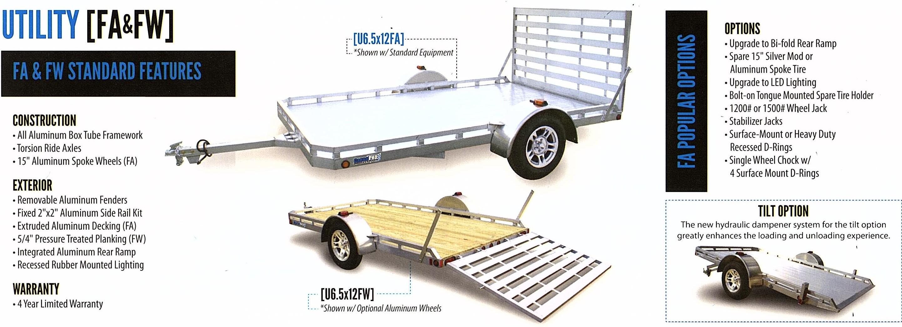 utility trailers single axle