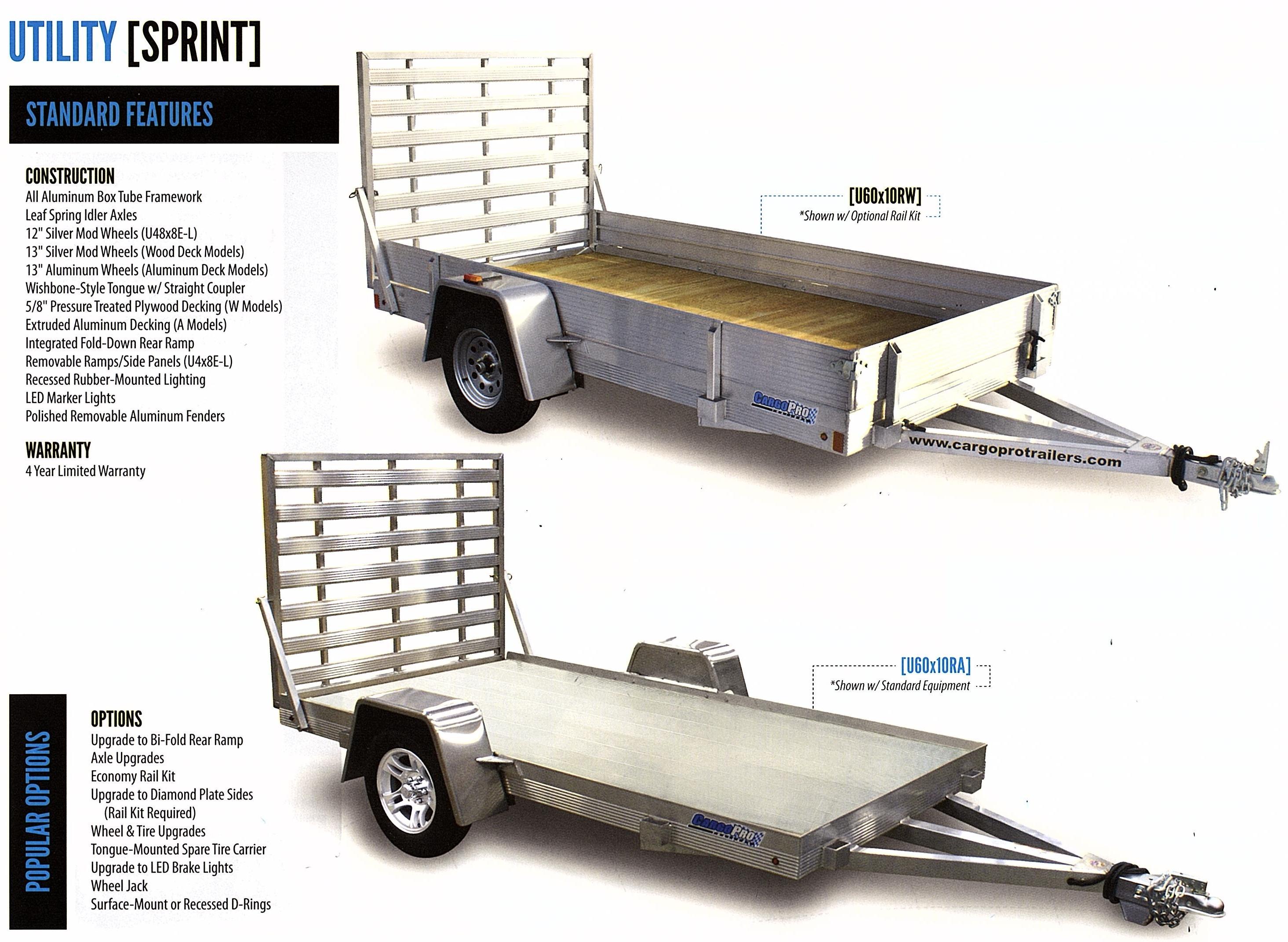 aluminum utility trailer single axle
