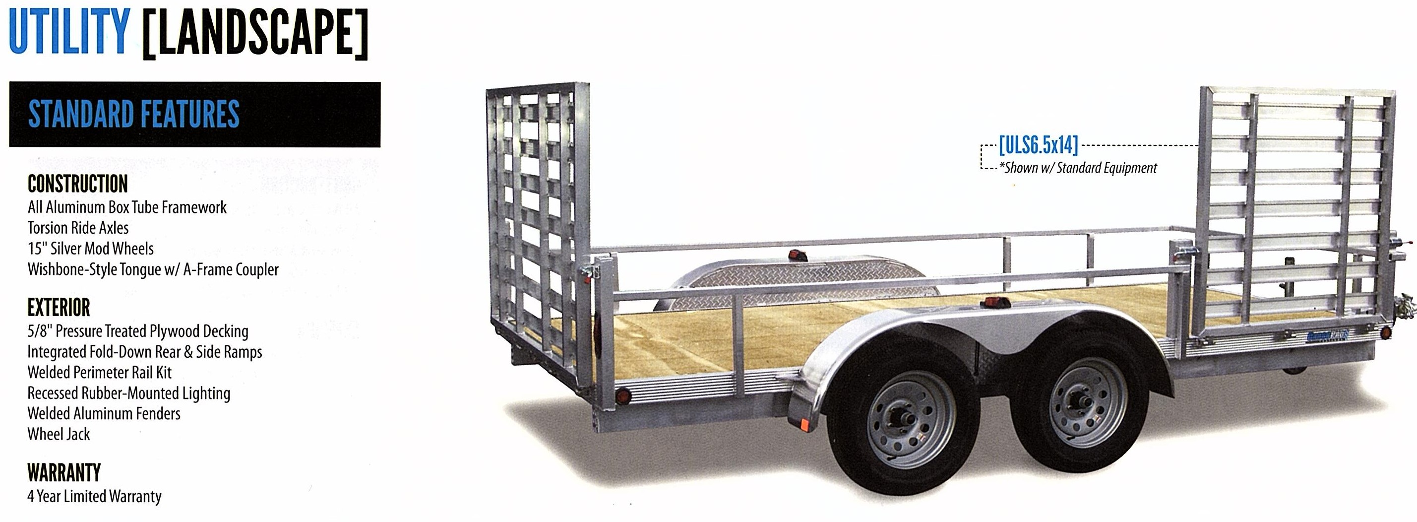 landscape utility trailer aluminum