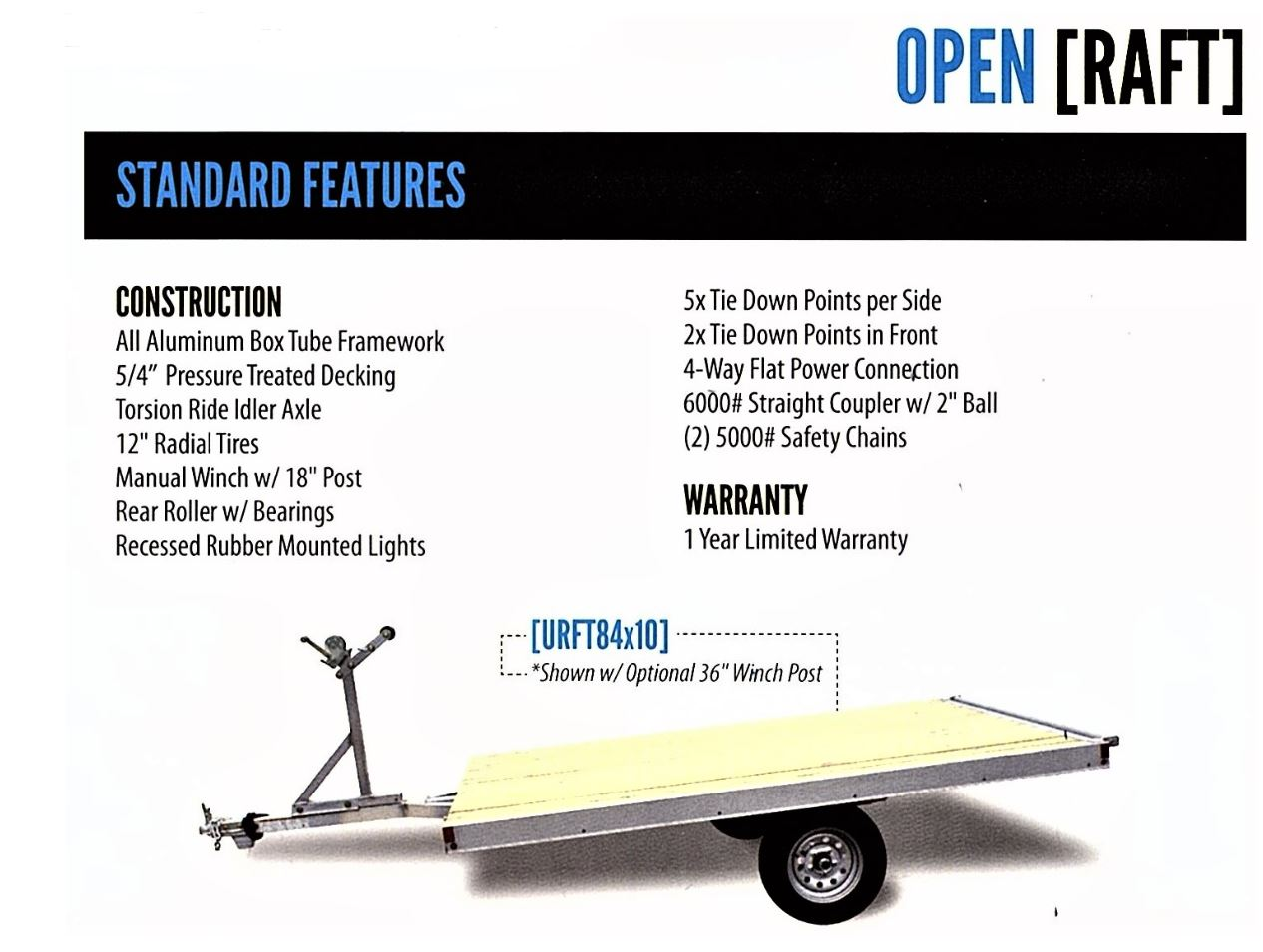 Raft Boat Trailer Aluminum Light Weight