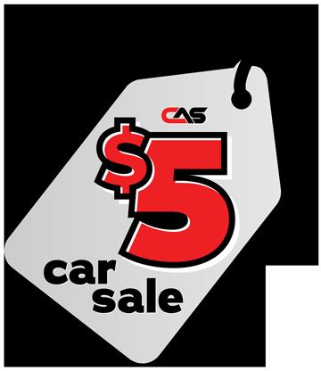 five dollar car sale