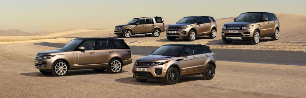 Land Rover lineup
