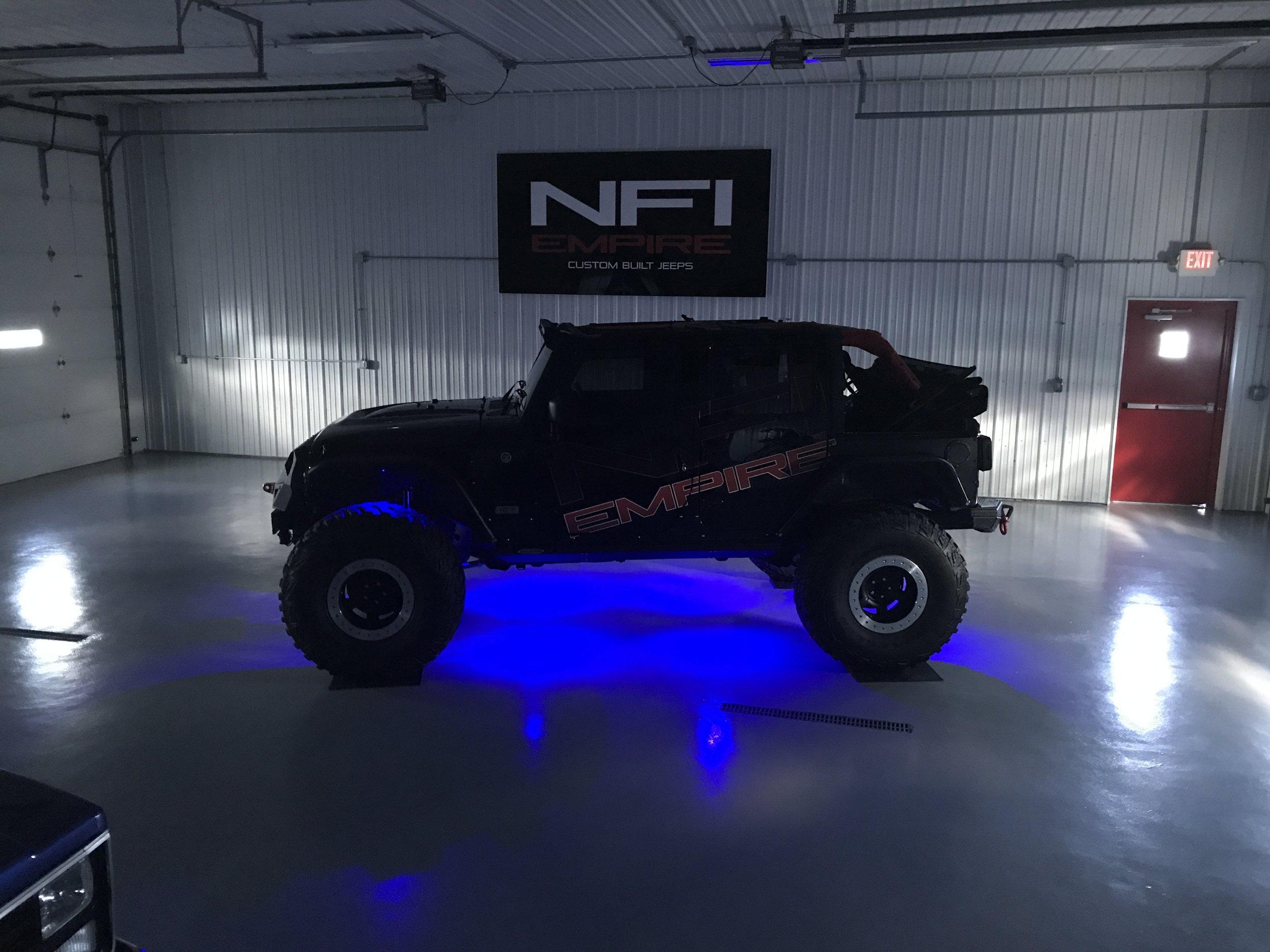 Underglow on a Jeep