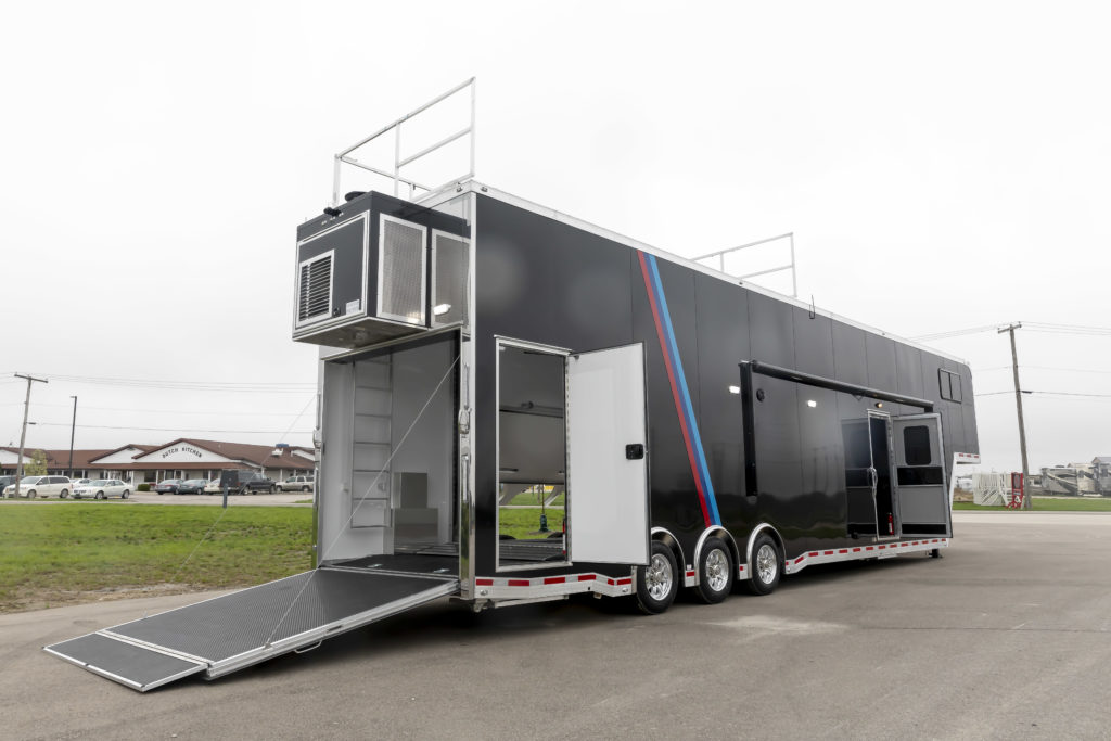 45′ BMW Gooseneck Stacker w/ Full Living Quarters