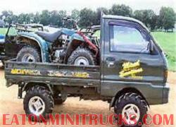 mini truck hauling atv utv 4x4 4wd